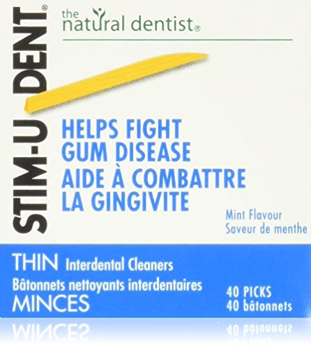 Stim-U-Dent Thin, The Un-Plastic Plaque Removers, Mint Flavored, 160 Count Box (Pack of 6)