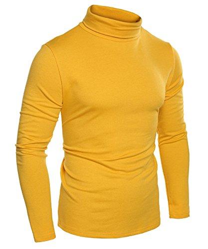 Men's Turtleneck Sweater in Mustard Color