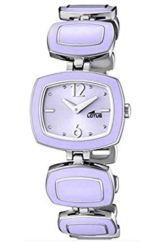 Lotus L15775-3 - Reloj para Mujeres, Correa de Acero Color Morado