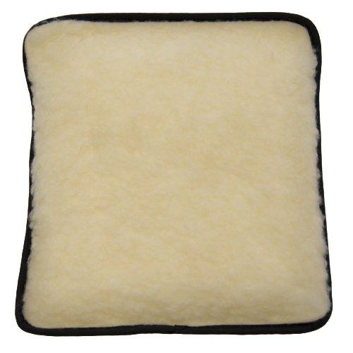 Hotties - borsa dell'acqua calda con tasca riscaldabile in microonde - fodera in pile simil-lana - panna