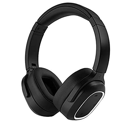 Noise Cancelling Bluetooth Headphones, InaRock ANC Wireless Over Ear Headset with High Clarity Sound Powerful Bass, 50 Hour Playtime for Travel Work TV PC Cellphone