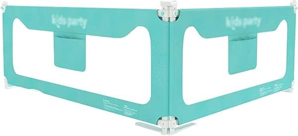 千安达床护栏 2 面 1 长边 1 脚边带实用收纳袋婴儿儿童床挡板颜色蓝色尺寸 1 8m