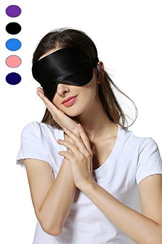 Silk Sleep Mask & Blindfold, Soft Eye Mask with Adjustable...