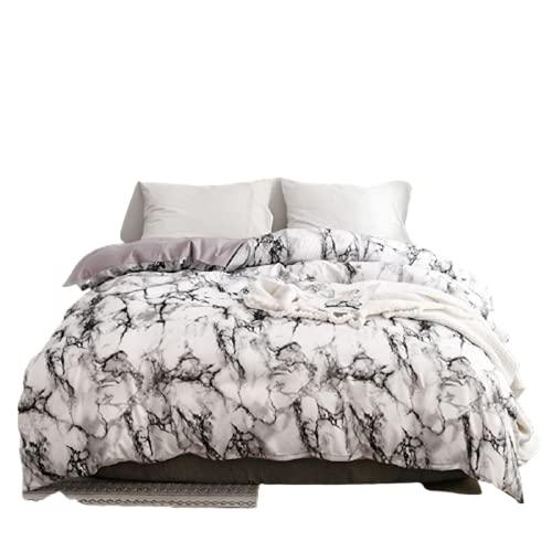 CCBAO Ropa De Cama Textiles para El Hogar Funda Nórdica con Patrón De Mármol Liso Ambiente Simple Eleganteduradero Y Fácil De Limpiar 220x240cm