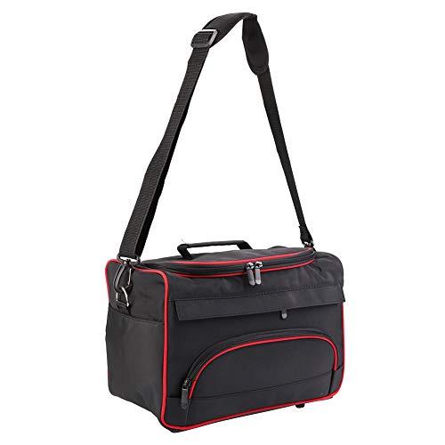 Organizador de caja de maquillaje, caja de maquillaje de múltiples bolsillos con cinco pies sobresalientes, bolsa portátil de peluquería, bolso multifunción para el hogar para el salón