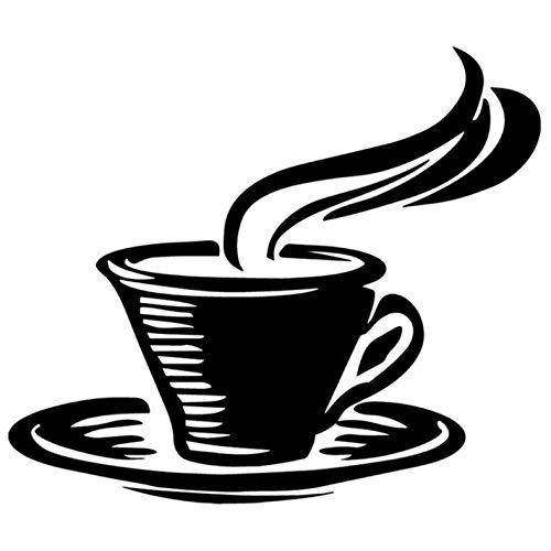 Empty 4 STK. Autoaufkleber16X13.8CM Kaffeetasse Cartoon Autoaufkleber Ganzkörperdekoration Zubehör-schwarz