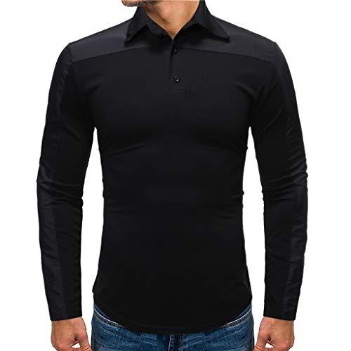 Luckycat Herren Poloshirt Polohemd T-Shirt Shirt Mit Polokragen Herren Poloshirt Polo Polohemd Langarmshirt Shirt Basic Poloshirts für Herren Kurzarm Polohemd T-Shirt Fun Poloshirt Pique