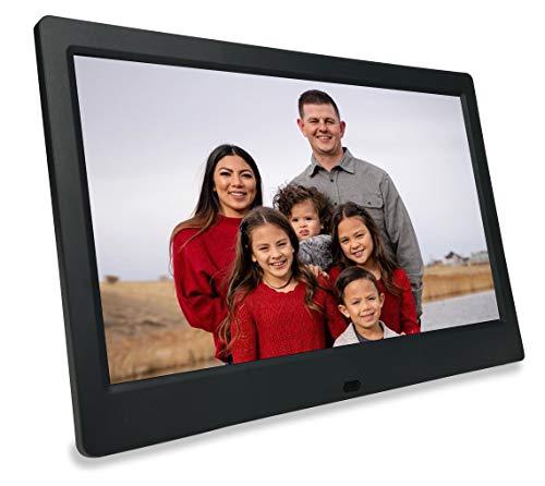 Phone2Frame Marco de fotos digital de 10 pulgadas con palo de copia de seguridad de fotos universal USB (64 GB) para pasar del teléfono o computadora