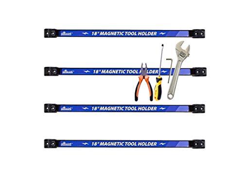 EHOMEA2Z Magnetic Tool Holder Organizer Bar Knife Rack Strip Wrench Storage Garage Gifts for Men (4, 18' Inch)