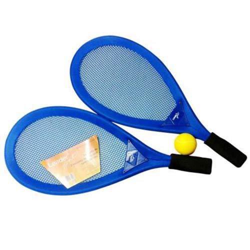 Kit Frescobol Praia Leader Completo 2 Raquetes + Bolinha 256 - Azul
