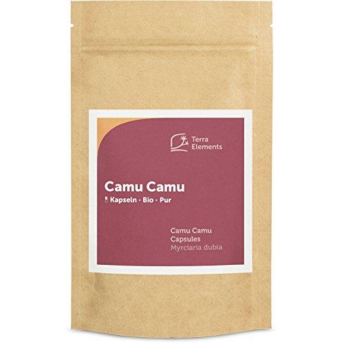 Terra Elements Camu Camu bio gélules (150 à 400 mg) I riche en vitamine c I 100% pure I vegan I qualité crue