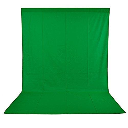 Neewer Sfondo Pieghevole in 100% Mussolina Pura per Studio Fotografico, Video e Televisione (Sfondo Solo) - Verde, 3x3,6m