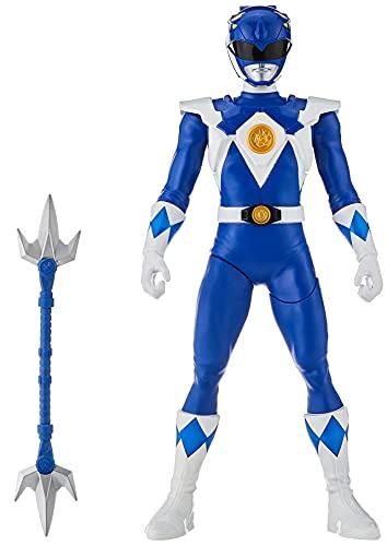 Power Rangers Mighty Morphin Blue Ranger Morphin Hero Figura de acción de 12 Pulgadas con...