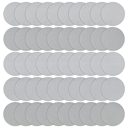 Iyowei 50Pcs Discos de Pulir Discos de Lija 125mm con Velcro, Papel de Lija Abrasivo Lija para Taladro, Almohadilla Lijado 320 400 600 800 1000 Granos para Taladro y Herramientas Rotatorias