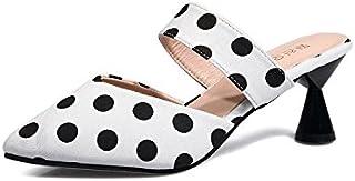 Donyyyy Semi zapatillas, zapatillas de media punta de verano, Baotou perezoso zapatos de mujer