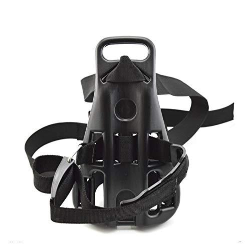 ZRNG Soporte de cilindro de oxígeno para buceo, soporte de cilindro de un solo tanque y placa trasera, sistema de adaptador, para esnórquel, soporte de botella de oxígeno (color negro)