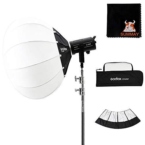 Godox CS-65D 65cm Lantern Foldable Quick-Install Portable Ro& Shape Lantern Softbox with Reflective Shading Skirt for Bowens Mount Studio Flash Godox VL150 UL150 SK400II etc.