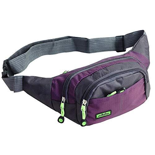 HuiHang Speed sport riem tas buik tas dames mannen waterdichte portemonnee, rits buik tas, mannen en vrouwen buitenzakken, voor wandelen heuptas
