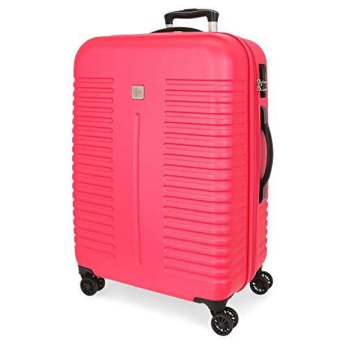 Roll Road India Fuchsia Medium Hardside Suitcase 70cm