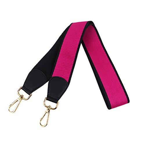 Umily Damen 103cm Schultergurt breiter Schultergurt/Schulterriemen handtaschen/Schulterriemen bunt für Schulterriemen Tasche, Tragetaschen und Handtaschen(Schwarz + Rosered)