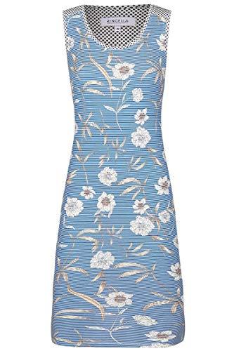 Ringella Damen *Nachthemd mit Blütendessin Blue 42 0211023, Blue, 42