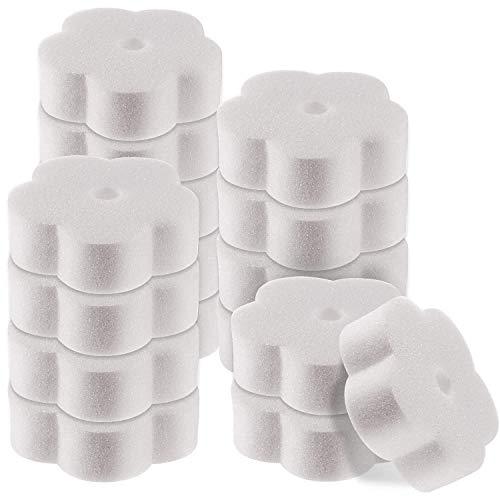 Cobeky 50 Stück ölabsorbierender Schwamm für Whirlpool, Schwimmbad und Spa (Blume)