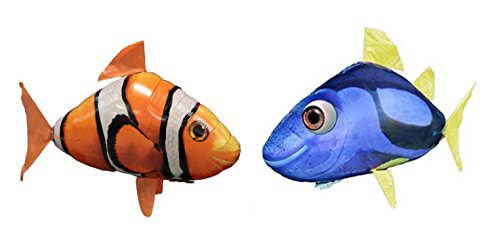 Air Swimmers Remote Control Flying Regal Tang and Clownfish Bundle