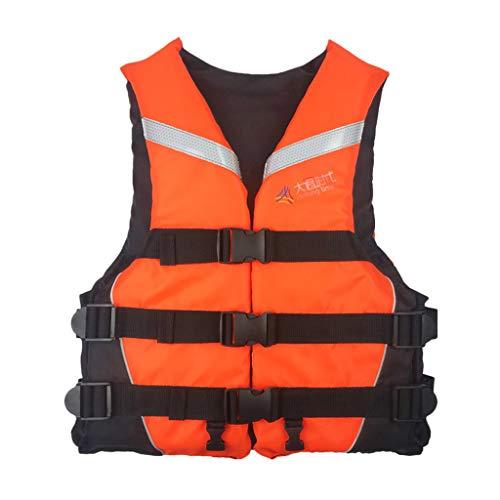 Younoo1 Chaleco de salvamento profesional para adulto – Chaleco de flotabilidad ajustable chaleco salvavidas con silbato para la navegación de Plaisance, la vela, el surf, el Kayak