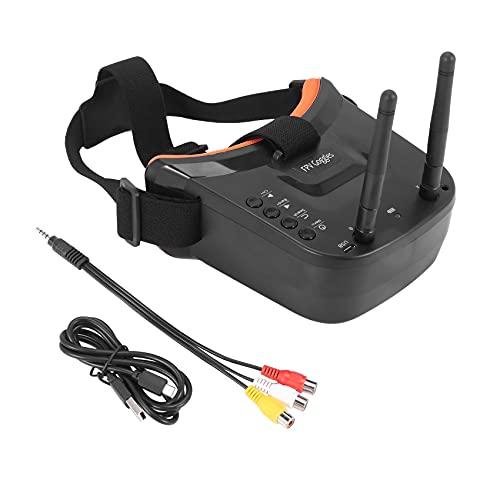 Mogzank FPV Gafas de Protección 3 Pulgadas 480X320 Exhibición de Recepción de Doble Antena 5.8G 40Ch con Batería para RC FPV Racing Drone Quadcopter