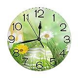 Kncsru Reloj de Pared Redondo Reloj de Pared silencioso sin tictac Número de Reloj Cocina Decorativa de Interior Sala de Estar Oficina Reloj Redondo Moderno Número