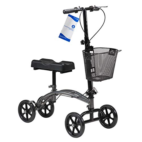 Dynarex Steerable Knee Walker with Basket