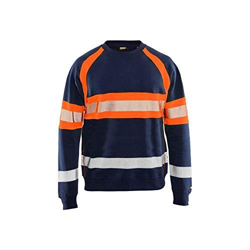 Blakläder 3359115889534X L HIGH-VIS sudadera tamaño, azul marino/naranja, 4x l