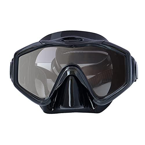 LCBYOG Medio máscara de Buceo para Nadar Engranaje de Buceo de Cristal Anti-Niebla con cinturón Ajustable Gafas de Fugas para Adultos Gafas De NatacióN (Color : As)