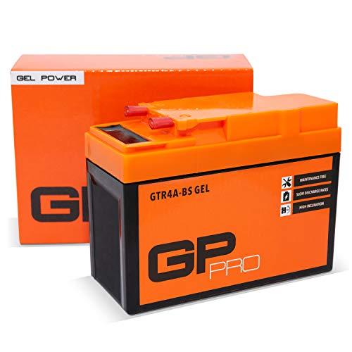 GP-PRO GTR4A-BS 12V 2.3Ah GEL-Batterie Kompatibel mit YTR4A-BS / 50415 Wartungsfrei & Versiegelt Rollerbatterie Akkumulator Roller