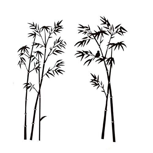 Vikenner PVC Bambus Wandtattoo Baum Abnehmbare Wandtattoos/Wandsticker für Zimmer und Wohnzimmer Deko