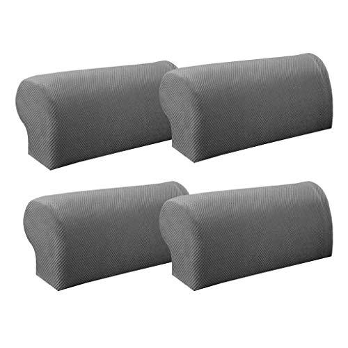 AFFASFSAFS Juego de Fundas para reposabrazos de sofá de 4 Piezas, Fundas elásticas para sillones, Fundas para Brazos de sofá, Protector de Muebles para sofás, sillones y sillones reclinables