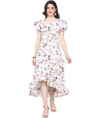 OOMPH! Women's Crepe Wrap Maxi Dress - Daisy White