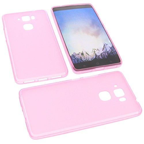 foto-kontor Tasche für MEDION Life X5520 Gummi TPU Schutz Handytasche pink
