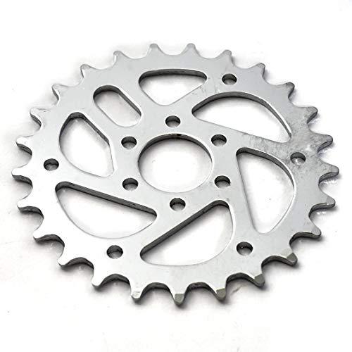 KHEbikes KHE BMX Kettenblatt 25 Zähne Silber VERCHROMT CNC nur 78g