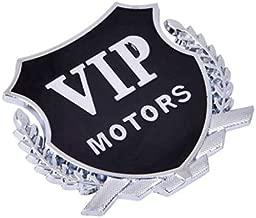 HANO 2 Piezas de Etiqueta engomada del Coche Motores Insignia del Emblema de la Etiqueta VIP para Mitsubishi ASX Outlander Lancer Evolution Pajero Eclipse Car Styling: