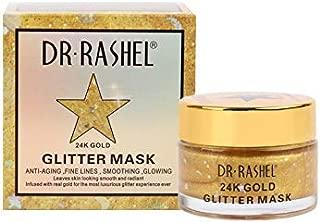 DR RASHEL Gold Glitter Face Mask for Moisturizing and Firm Skin