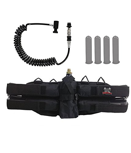 Maddog Sports 4+1 Paintball Harness w/Pods & Remote Coil w/Slidecheck