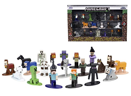 Jada Toys 'Minecraft 1.65'' Die-cast Metal Collectible Figures 20-Pack Wave 5, Toys for Kids and Adults, 32023