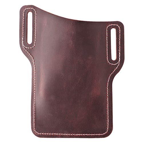 ibasenice Leder Handy Holster Telefon Hüftgurt Tasche Hülle mit Gürtelloch für Männer