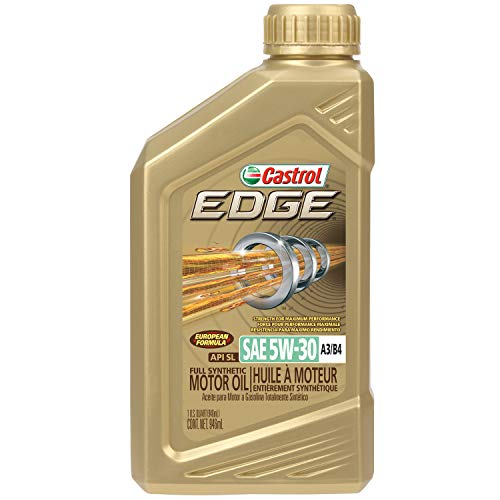 Castrol 06037 Castrol EDGE A3/B4 5W-30 Advanced Full Synthetic Motor Oil, 1 Quart, 6 pack