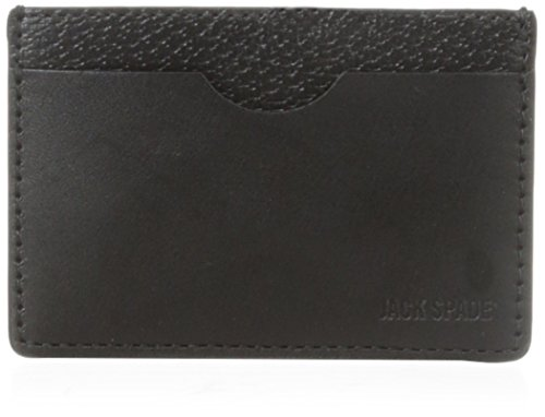 Jack Spade Men's Credit Card Holder, Black, One Size