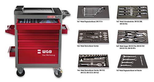 Werkstattwagen bestückt mit 6 Modulen | 5 Schubladen | No.140 | stabile Stahlblechkonstruktion | WGB