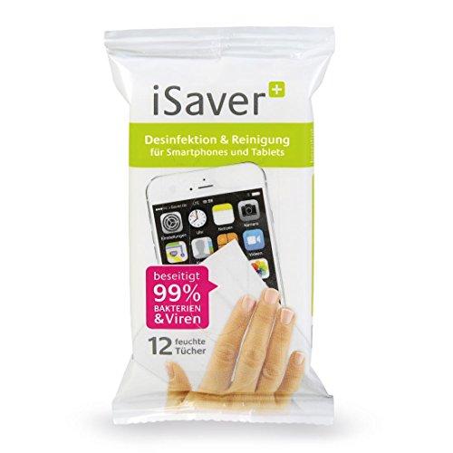 iSaver+ feuchte Desinfektionstücher, Desinfektion & Reinigung für Smartphone, Tablet, Tastatur, Monitor und Maus
