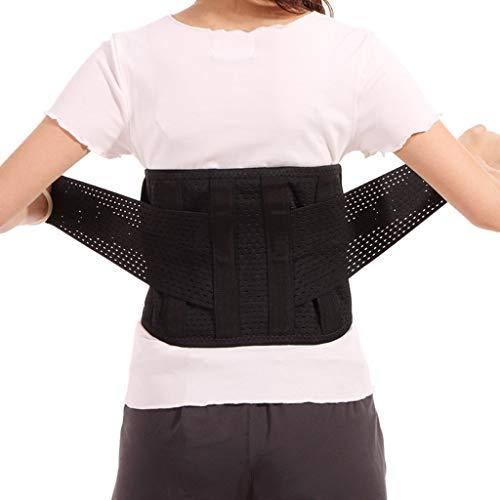 ZFF Cinturón Lumbar Respirable Cinturón De Soporte Lumbar Ajustamiento Espalda Baja Alivio Dolor Hombres Mujer Discos Herniados (Size : L/Large)