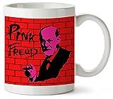 Banksy Pink Freud BNK003 Funny Mug 325ml Coffee Tea Funny Novelty Mug Ceramic White Great Gift Idea Meme Cup